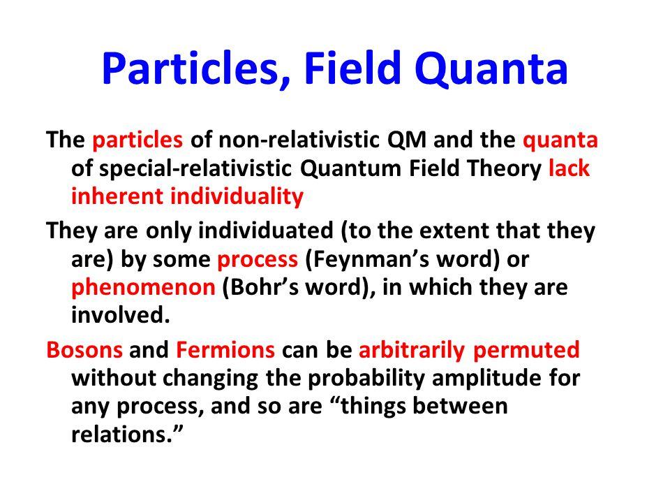 Particles, Field Quanta
