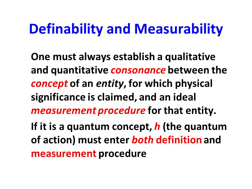 Definability and Measurability