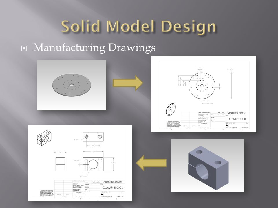 Solid Model Design Manufacturing Drawings