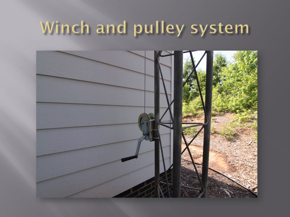 Winch and pulley system