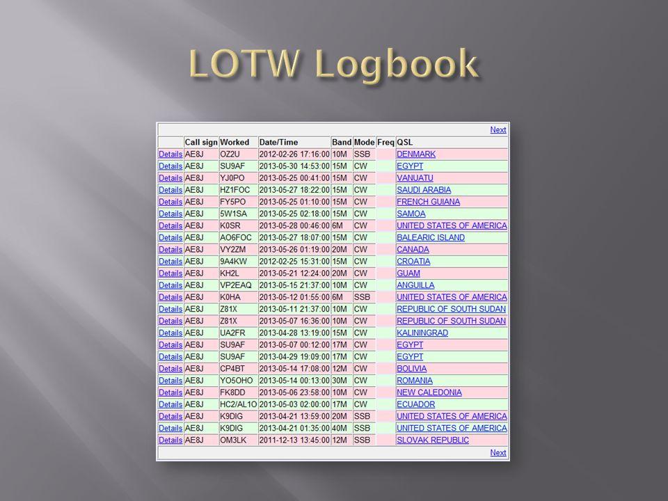 LOTW Logbook