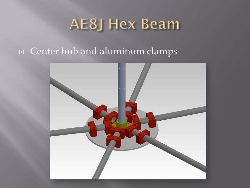AE8J Hex Beam Center hub and aluminum clamps