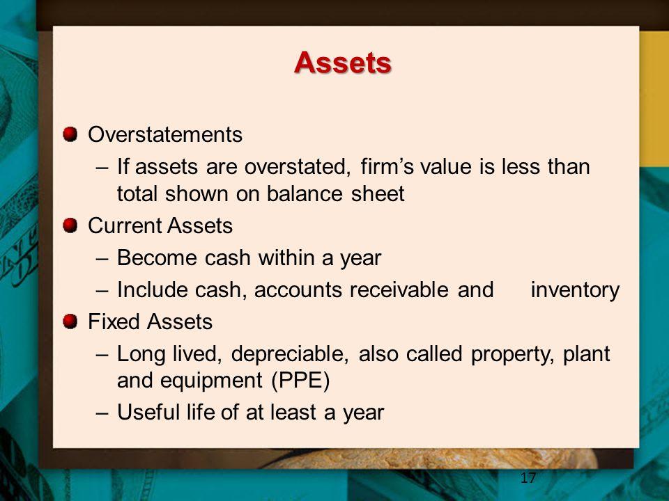 Assets Overstatements