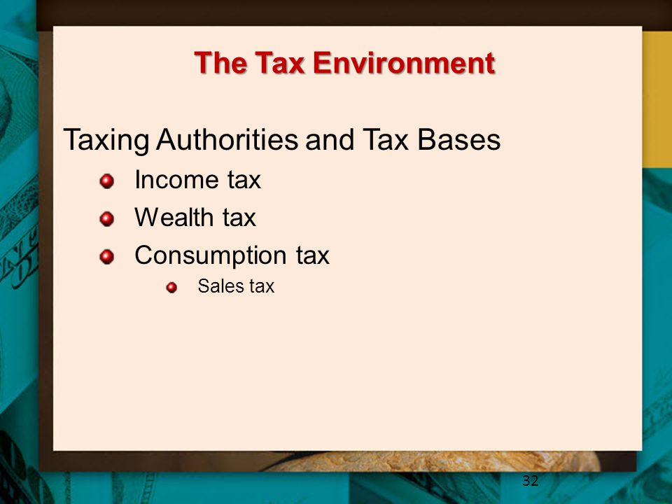 Taxing Authorities and Tax Bases