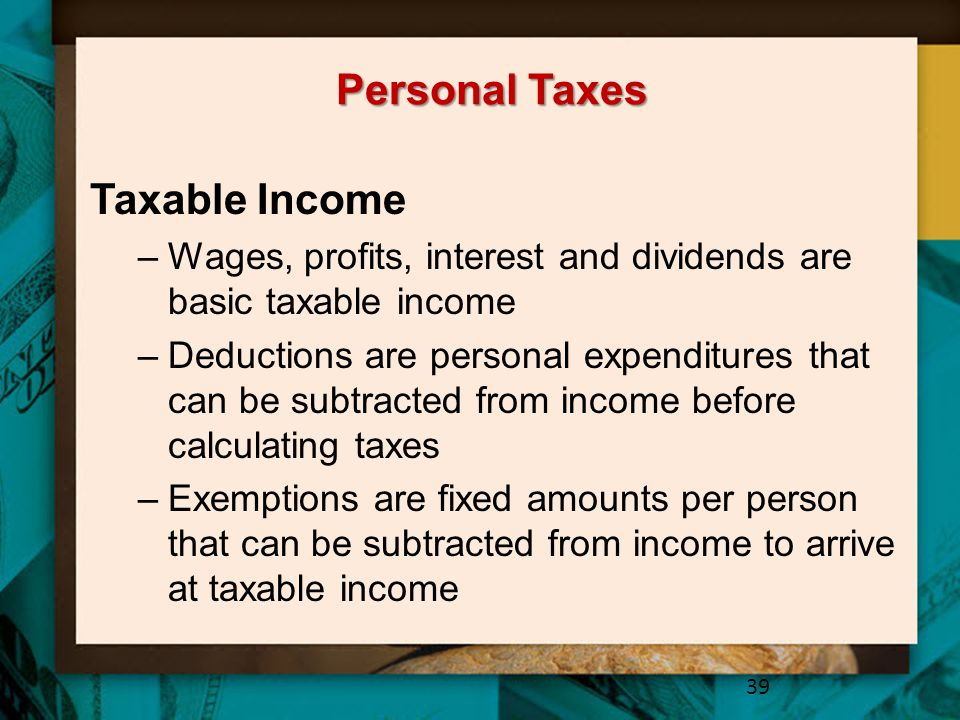 Personal Taxes Taxable Income