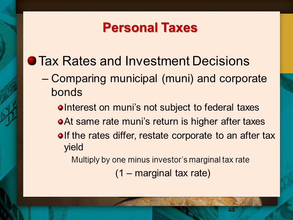 Tax Rates and Investment Decisions