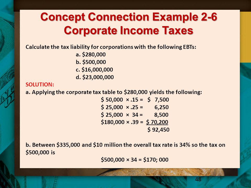 Concept Connection Example 2-6 Corporate Income Taxes