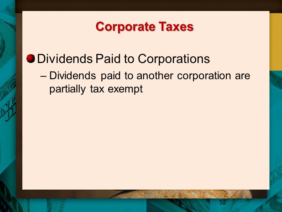 Dividends Paid to Corporations