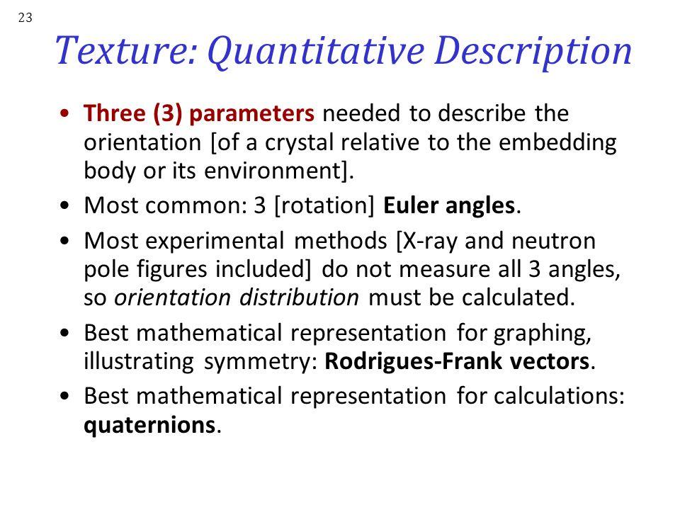 Texture: Quantitative Description