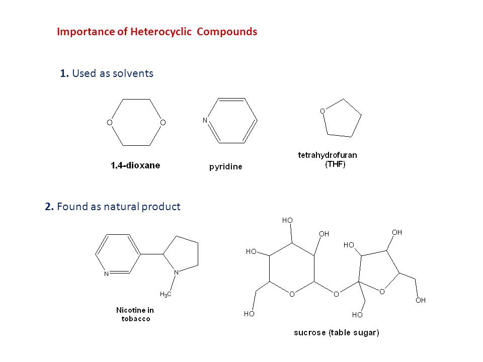 Importance of Heterocyclic Compounds