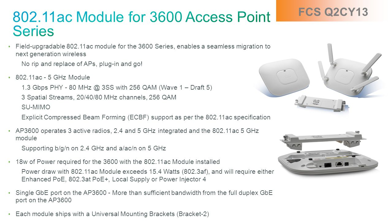 802.11ac Module for 3600 Access Point Series