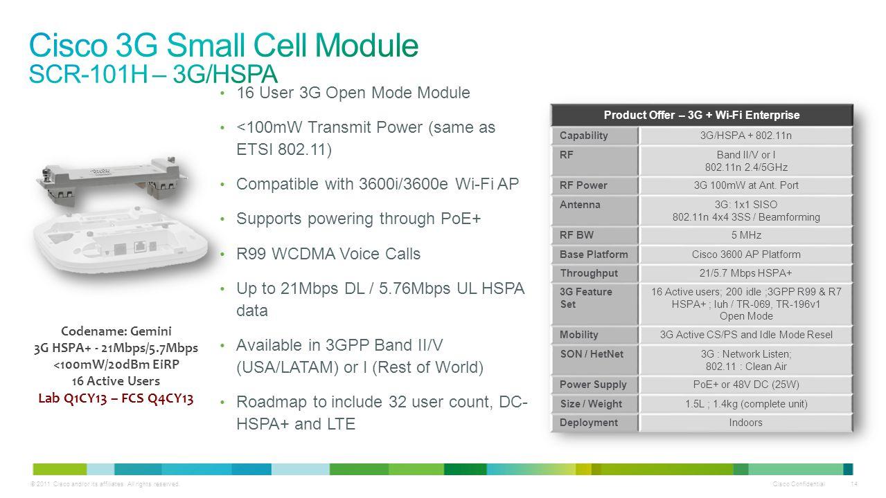 Cisco 3G Small Cell Module SCR-101H – 3G/HSPA