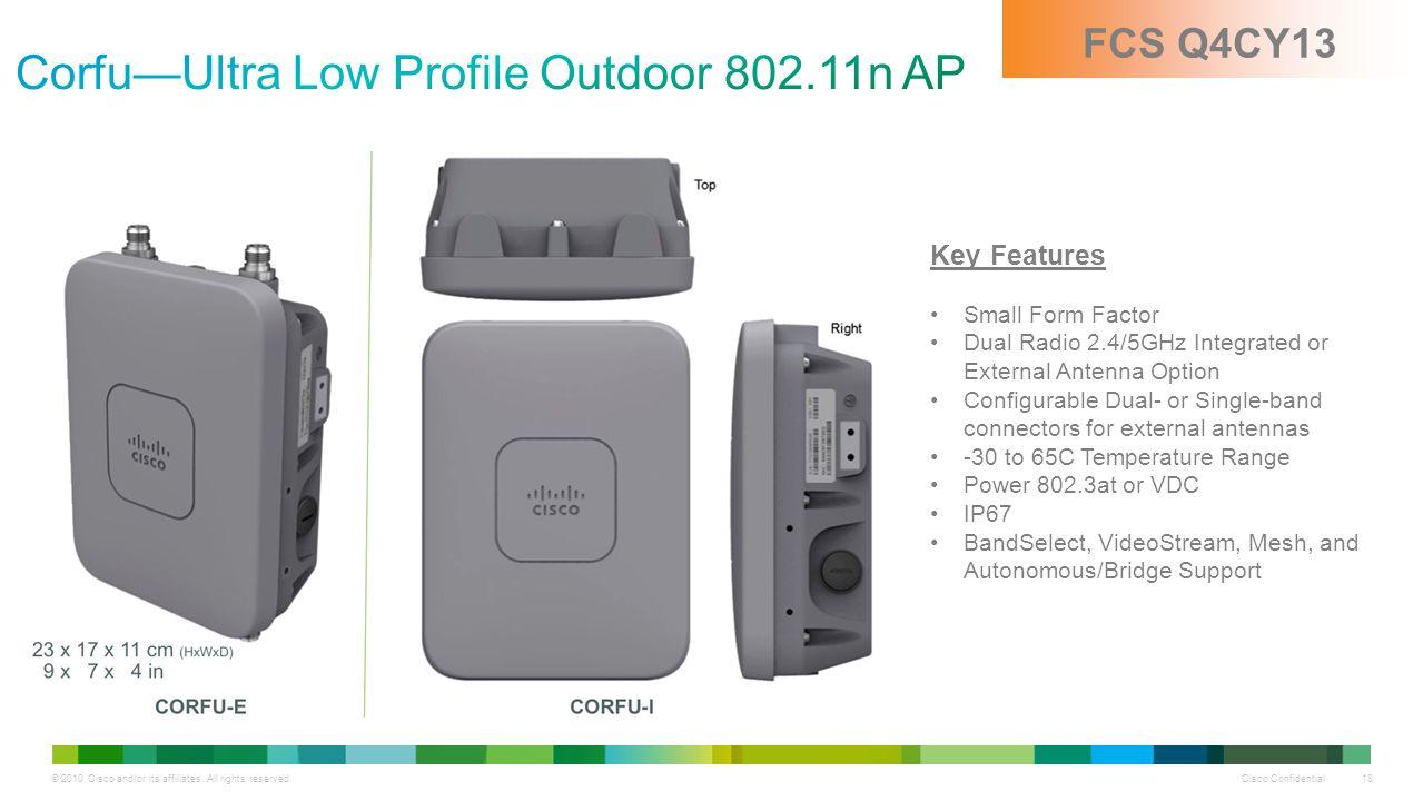 Corfu—Ultra Low Profile Outdoor 802.11n AP