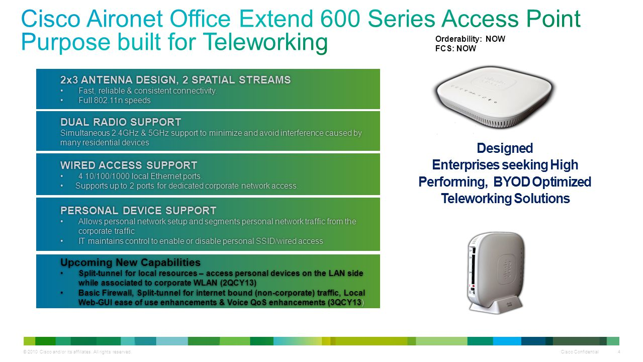 Cisco Aironet Office Extend 600 Series Access Point Purpose built for Teleworking