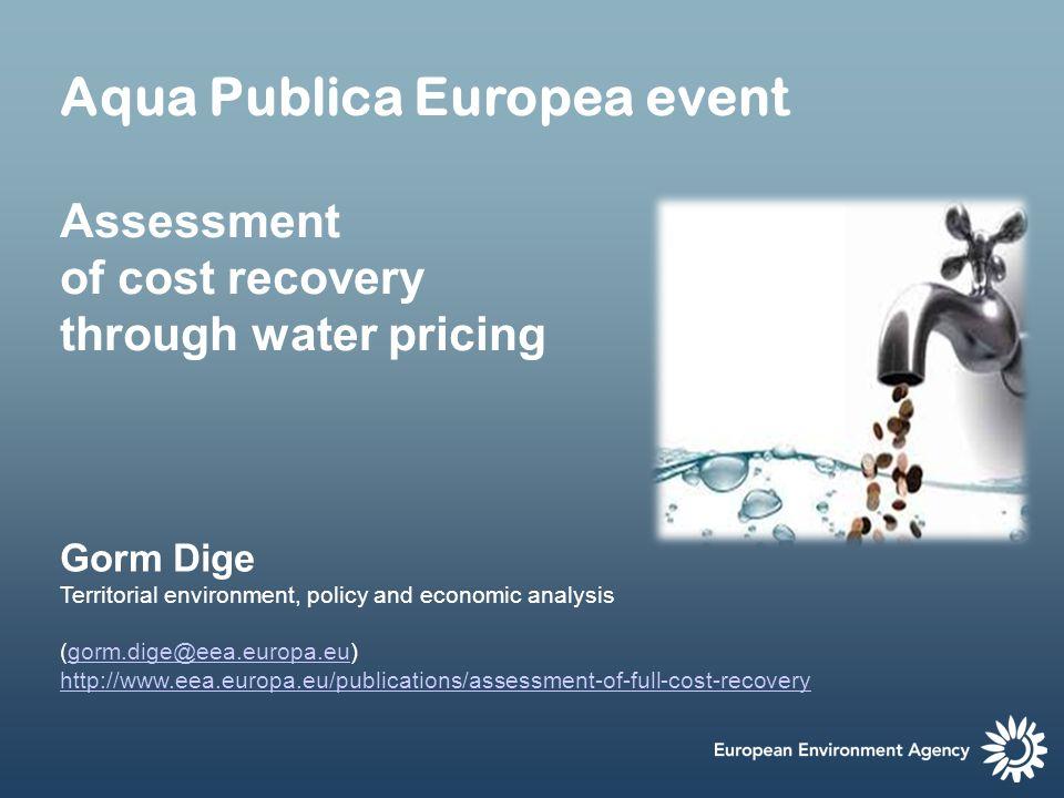 Aqua Publica Europea event