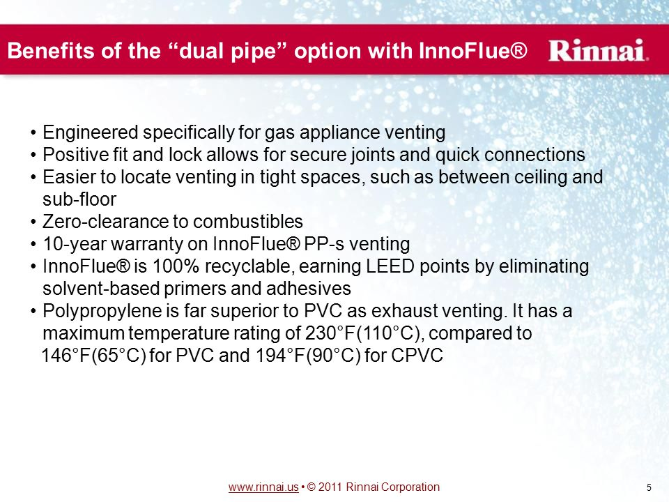 Benefits of the dual pipe option with InnoFlue®
