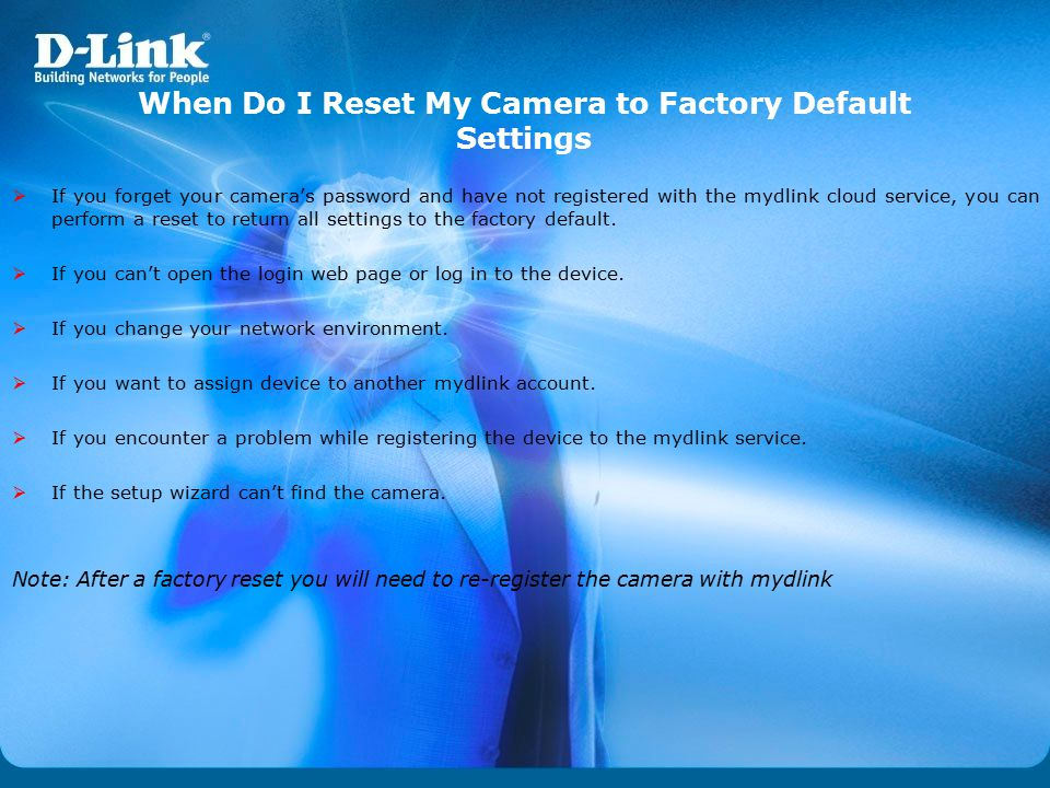 When Do I Reset My Camera to Factory Default Settings