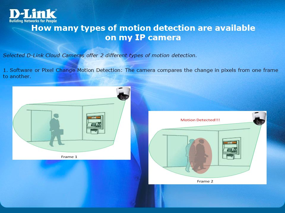 How many types of motion detection are available on my IP camera
