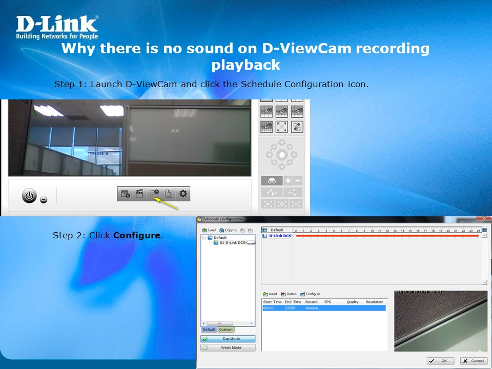 Why there is no sound on D-ViewCam recording playback