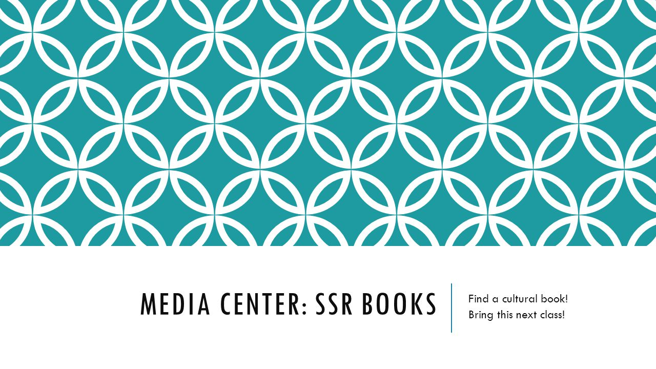 Media Center: SSR Books