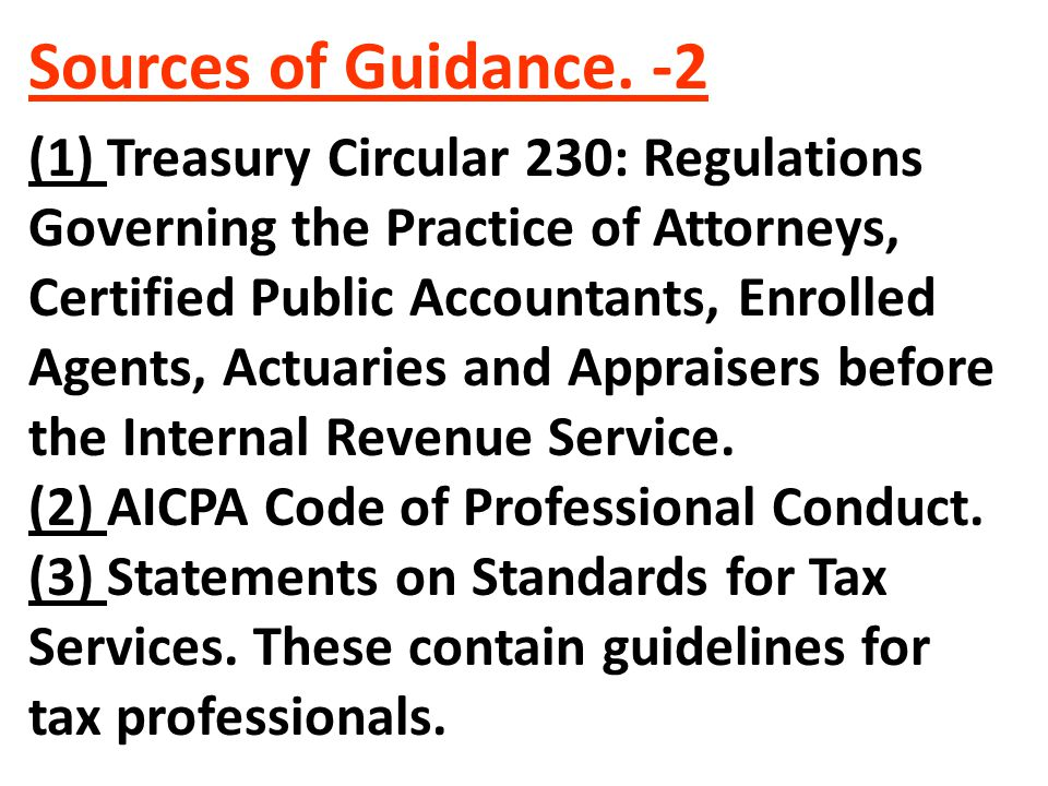 Sources of Guidance. -2