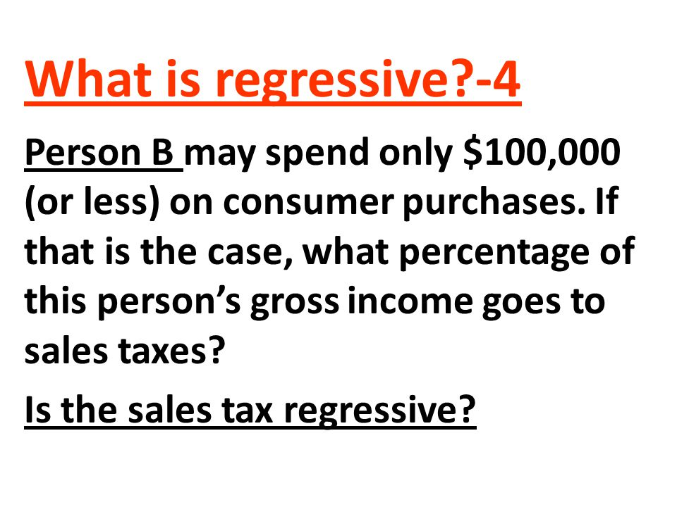 What is regressive -4