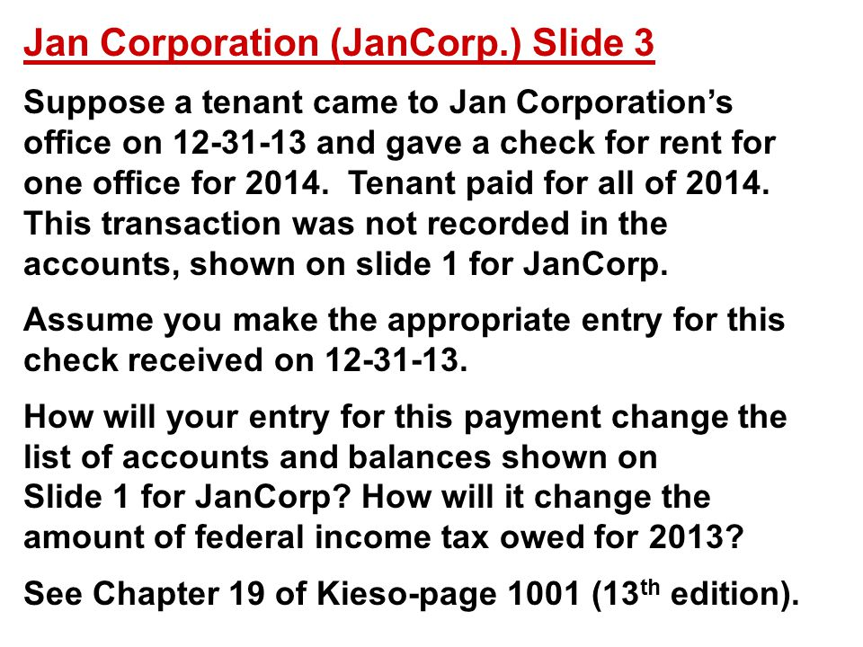 Jan Corporation (JanCorp.) Slide 3
