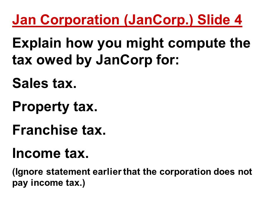 Jan Corporation (JanCorp.) Slide 4