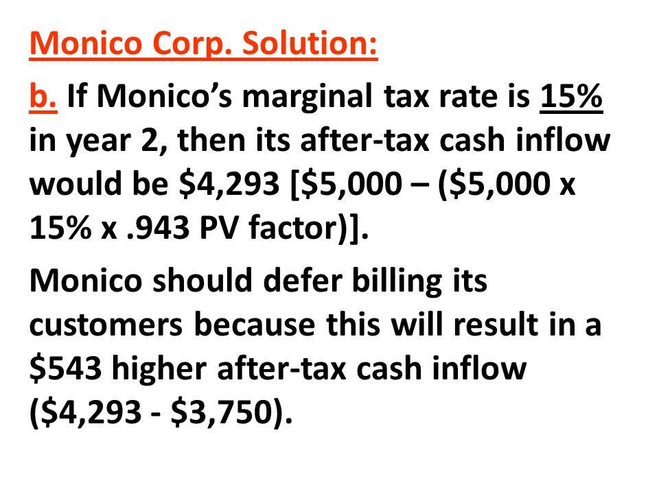 Monico Corp. Solution: