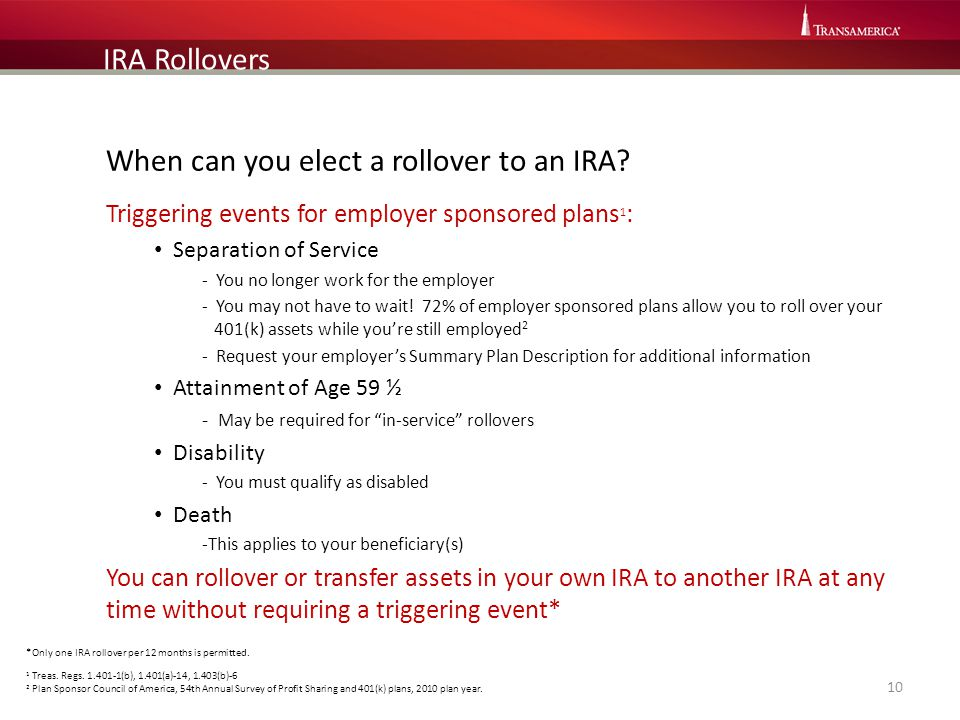 When can you elect a rollover to an IRA