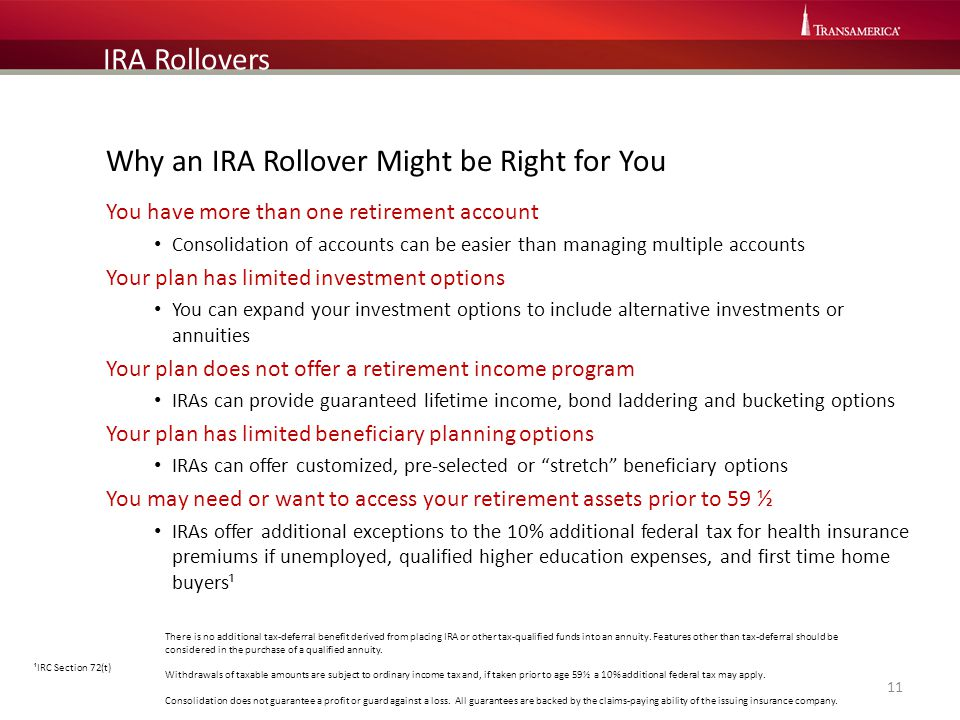 Why an IRA Rollover Might be Right for You