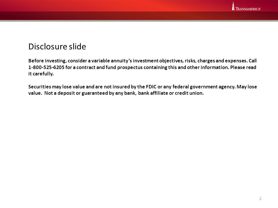 Disclosure slide