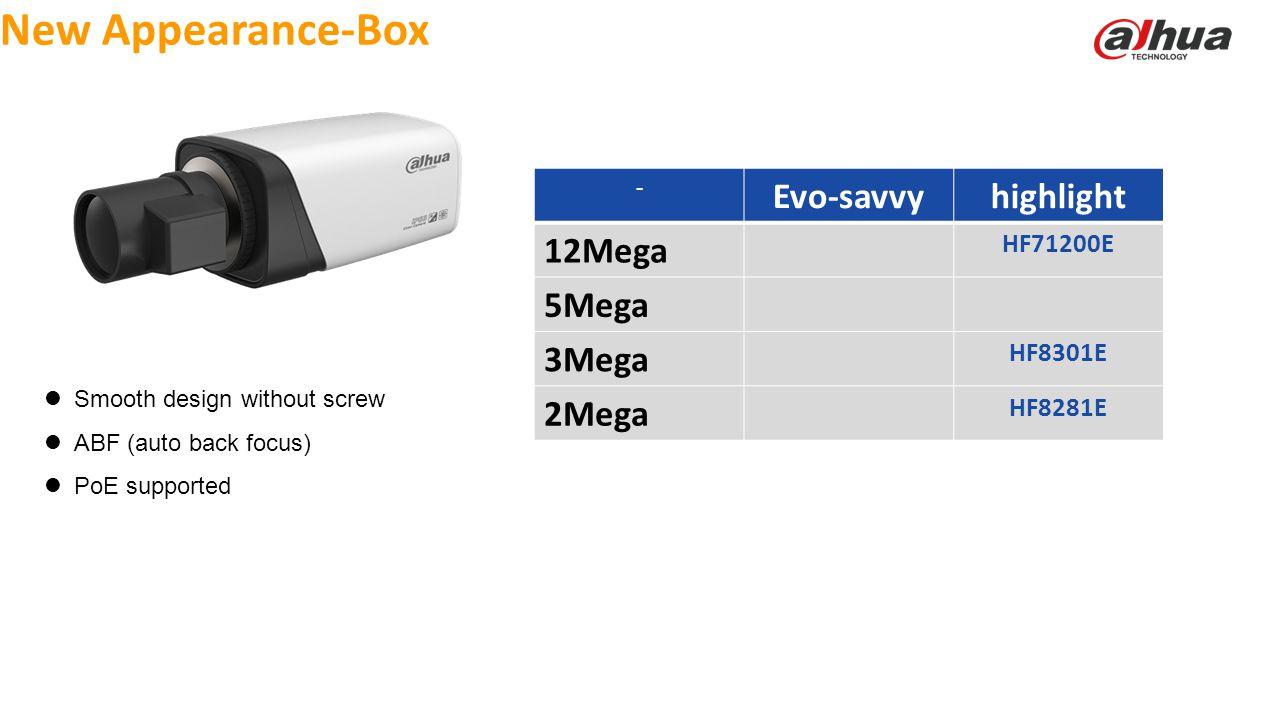 New Appearance-Box Evo-savvy highlight 12Mega 5Mega 3Mega 2Mega