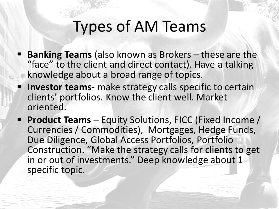Types of AM Teams