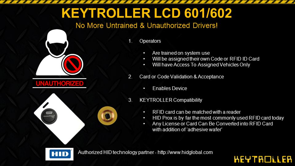 No More Untrained & Unauthorized Drivers!