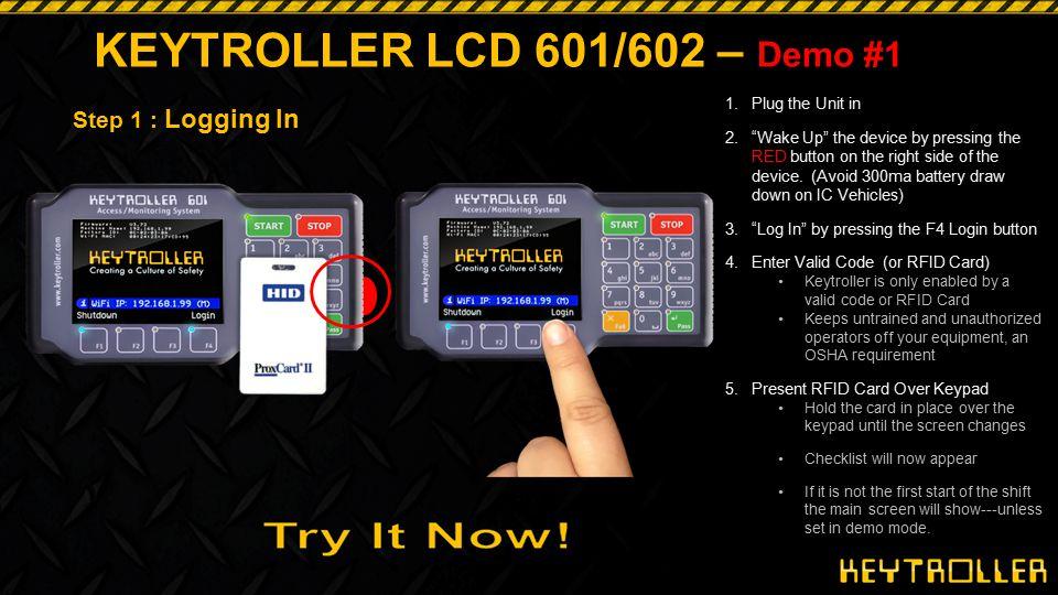KEYTROLLER LCD 601/602 – Demo #1