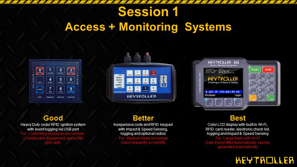 Session 1 Access + Monitoring Systems
