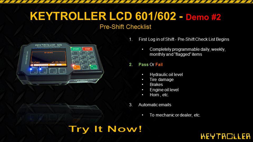 KEYTROLLER LCD 601/602 - Demo #2