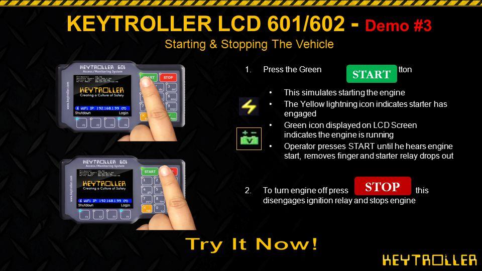 KEYTROLLER LCD 601/602 - Demo #3