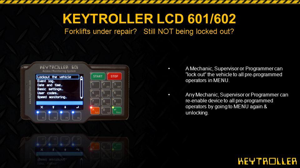 KEYTROLLER LCD 601/602 Forklifts under repair