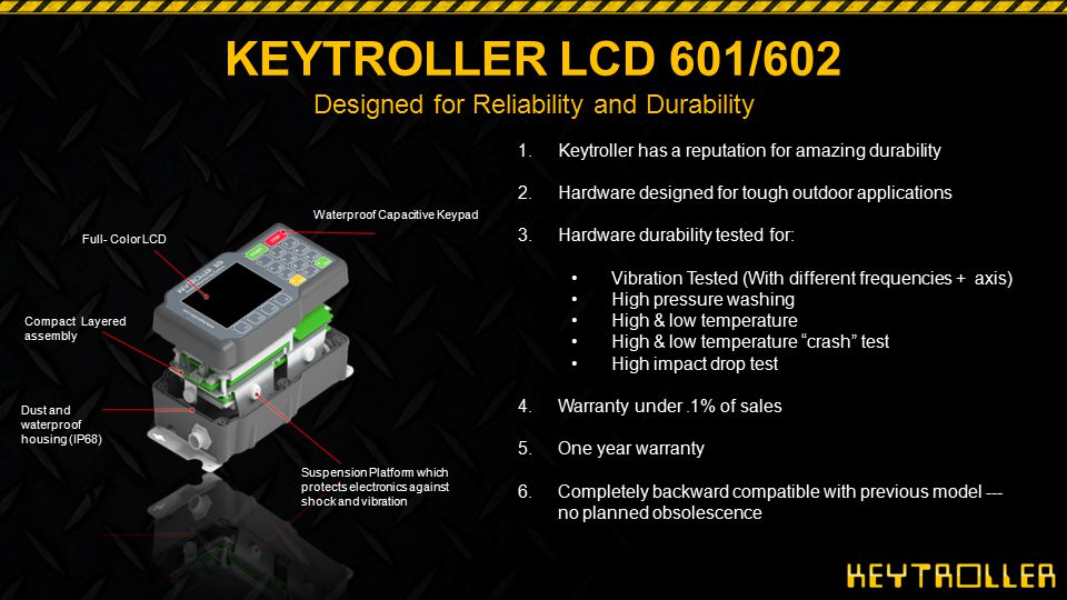 KEYTROLLER LCD 601/602 Designed for Reliability and Durability