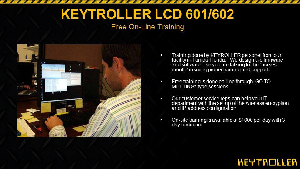 KEYTROLLER LCD 601/602 Free On-Line Training