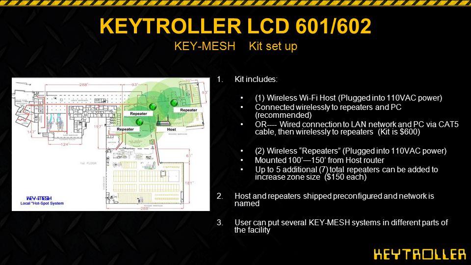 KEYTROLLER LCD 601/602 KEY-MESH Kit set up