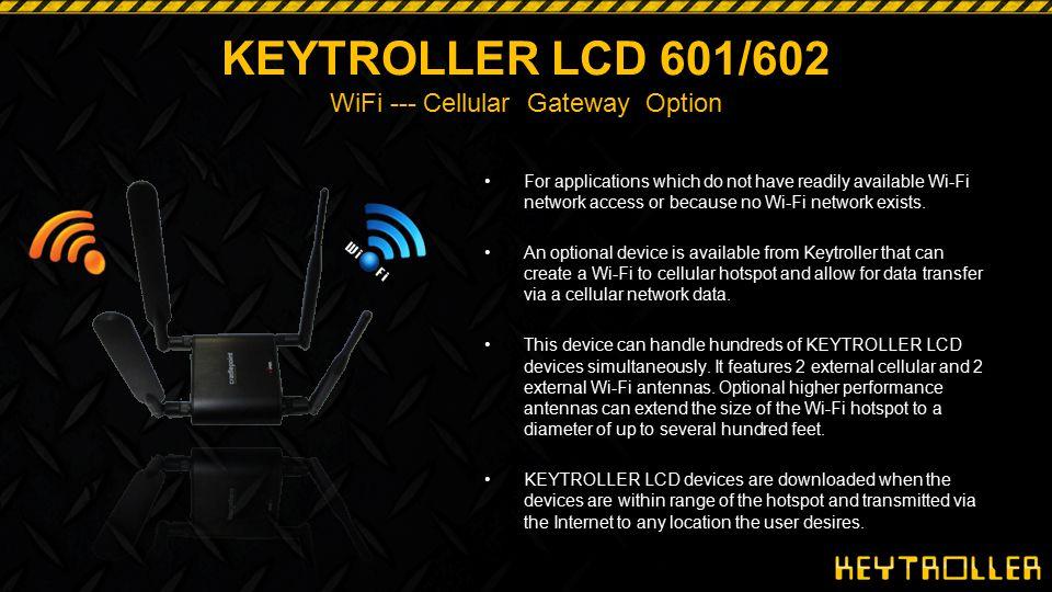 KEYTROLLER LCD 601/602 WiFi --- Cellular Gateway Option