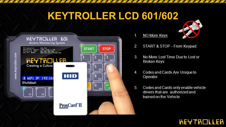 KEYTROLLER LCD 601/602 NO More Keys START & STOP - From Keypad