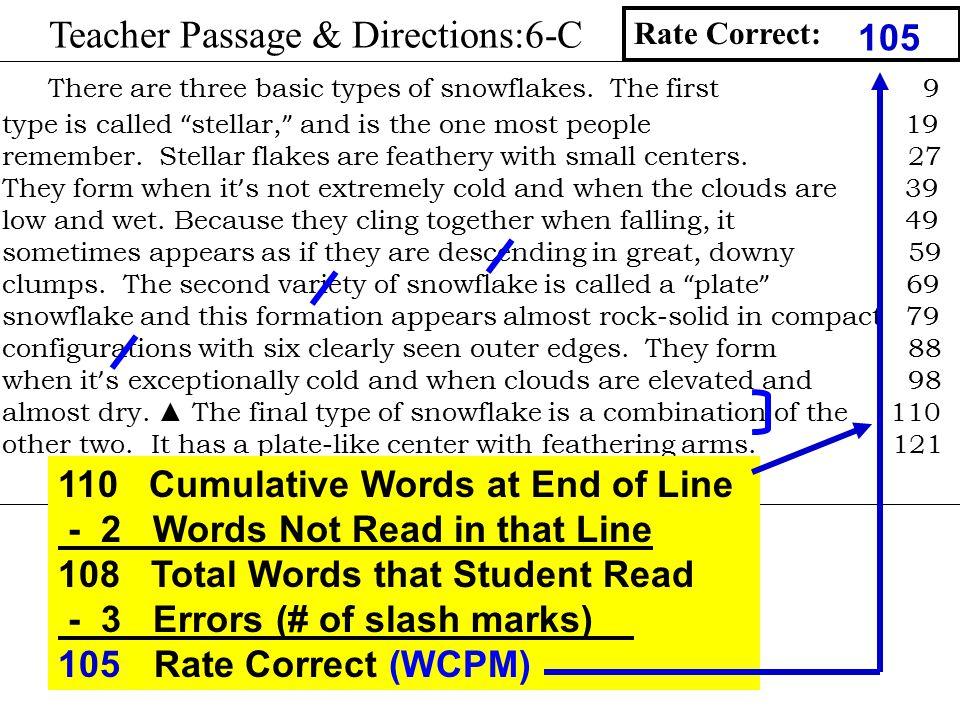 Teacher Passage & Directions:6-C