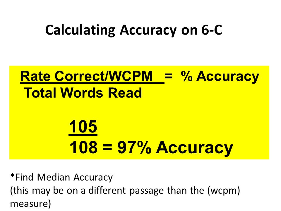 Calculating Accuracy on 6-C