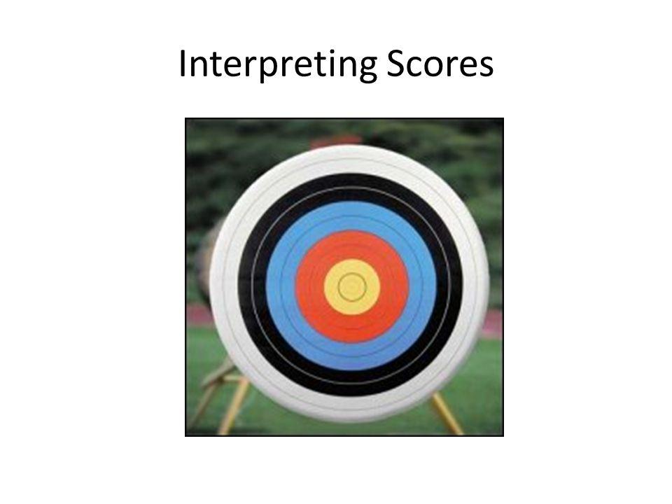 Interpreting Scores