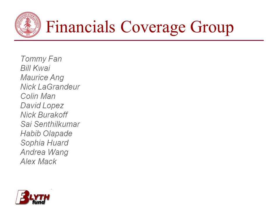 Financials Coverage Group