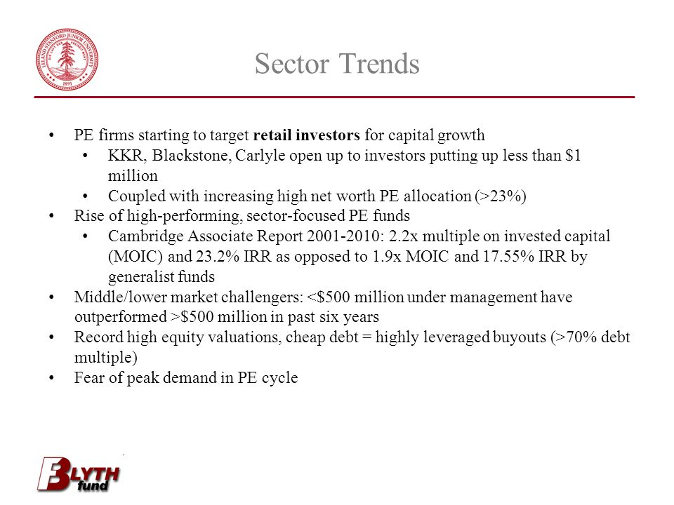 Sector Trends PE firms starting to target retail investors for capital growth.